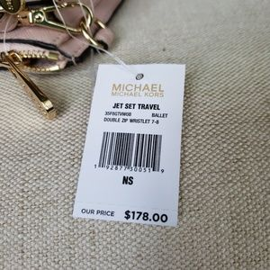 Michael Kors Bags - NWT Michael Kors Double zip Wristlet Ballet Pink